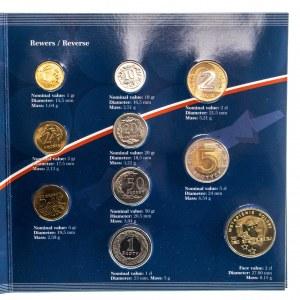 Polska, Rzeczpospolita Polska od 1989, oficjalny zestaw monet obiegowych Mennicy Państwowej Wstąpienie Polski do UE