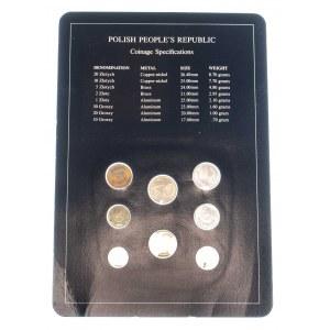 Polska, PRL 1944-1989, zestaw monet obiegowych Coins of all nations
