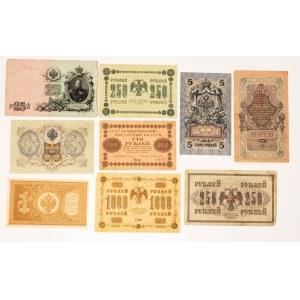 Rosja, zestaw banknotów z początku XX wieku