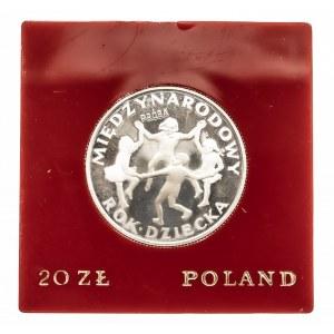 Polska, PRL 1944-1989, 20 złotych 1979, Międzynarodowy Dzień Dziecka, próba