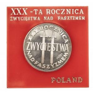 Polska, PRL 1944-1989, 200 złotych 1975, XXX-ta rocznica zwycięstwa nad faszyzmem, próba