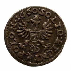 Polska, Jan II Kazimierz 1648 - 1668, szeląg miedziany (boratynka) 1660 T.L.B., Ujazdów