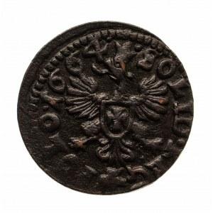 Polska, Jan II Kazimierz 1648 - 1668, szeląg miedziany (boratynka) 1664, Ujazdów