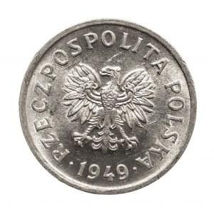 Polska, PRL 1944-1989, 10 groszy 1949 aluminium