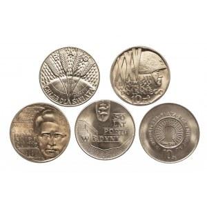 Polska, PRL 1944-1989, zestaw monet 10. złotowych