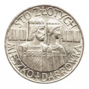 Polska, PRL 1944-1989, 100 złotych 1966 Mieszko i Dąbrówka, próba - półpostacie