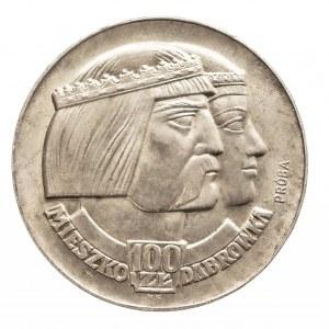 Polska, PRL 1944-1989, 100 złotych 1966 Mieszko i Dąbrówka - głowy, próba