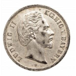 Niemcy, Cesarstwo Niemieckie 1871-1918, Bawaria, Ludwik II 1864-1886, 5 marek 1874 D, Monachium
