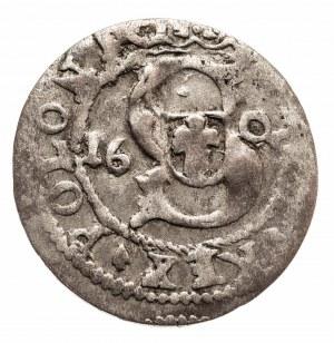 Polska, Zygmunt III Waza, Szeląg Ryga 1609 - data na Aw. - rzadki