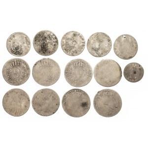 Austria, Francja zestaw 14 srebrnych monet XVIII w.