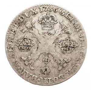 Austria, Niderlandy, Maria Teresa, 1/2 talara 1756, Bruksela (2)