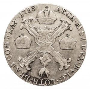 Austria, Niderlandy, Józef II, 1/2 talara 1788 A, Wiedeń (1)