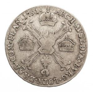 Austria, Niderlandy, Leopold II, 1/4 talara 1791 H, Gunzburg (2)