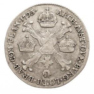 Austria, Niderlandy, Franciszek II, 1/4 talara 1793 B, Kremnica (3)