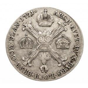 Austria, Niderlandy, Leopold II, 1/4 talara 1791 A, Wiedeń