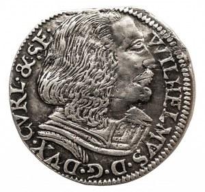 Kurlandia, Wilhelm Kettler 1587-1616, trojak 1604, Mitawa, bardzo rzadki R7