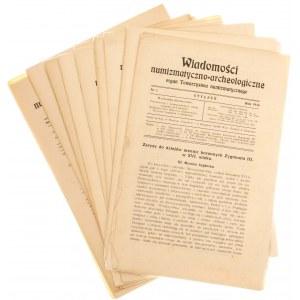 Wiadomości Numizmatyczno-Archeologiczne rok 1916, Kraków