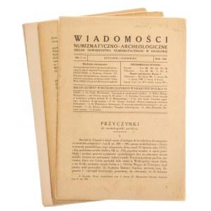 Wiadomości Numizmatyczno-Archeologiczne rok 1920, Kraków