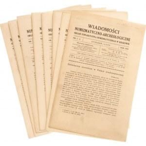 Wiadomości Numizmatyczno-Archeologiczne rok 1919, Kraków