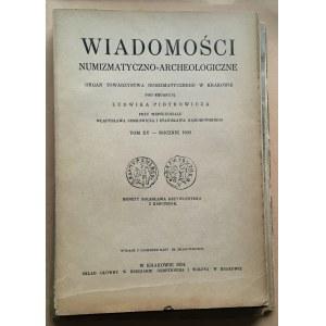 Wiadomości Numizmatyczno-Archeologiczne rok 1933, Kraków.