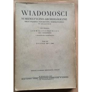 Wiadomości Numizmatyczno-Archeologiczne rok 1949, Kraków.