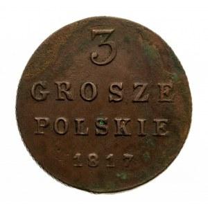 Królestwo Polskie, Aleksander I, 1815-1825, 3 grosze 1817, Warszawa