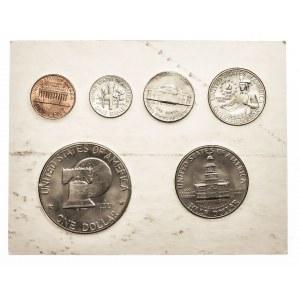 Stany Zjednoczone Ameryki, zestaw od centa do dolara. 6 monet.