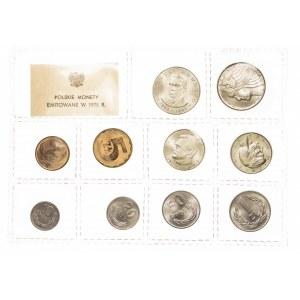 Polska, PRL 1944-1989, zestaw (zgrzewka) monet obiegowych 1975 rok