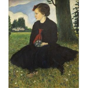 Alois ERBACH (1888 - 1972), Dziewczynka w parku