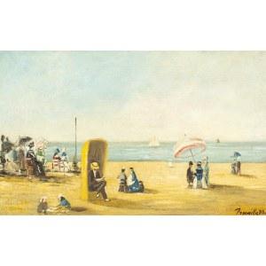 SZKOŁA FRANCUSKA, Plaża w Trouville, koniec XIX W.