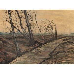 Odo DOBROWOLSKI (1883 - 1917), Drzewa na wietrze, 1914 r.