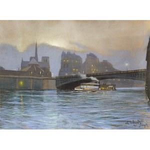 Odo DOBROWOLSKI (1883 - 1917), Paryż nocą, 1912 r.