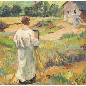 Erich DUMMER (1889 - 1929), Malarz przy sztaludze, n.d.