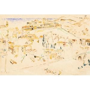 Mela MUTER (1876 - 1967), Pejzaż z Villeneuve-les-Avignon, lata 40