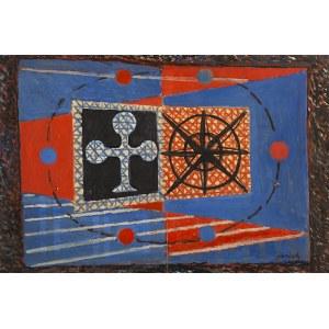 Jerzy JANISCH (1901 - 1962), Czerwono-Niebieskie, 1957