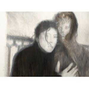 Norman LETO (ur. 1980), Bez tytułu (portret kobiety i mężczyzny)