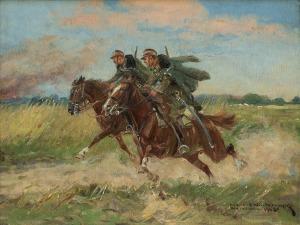 Wintorowski (Winterowski) Leonard, UŁANI W GALOPIE, 1925