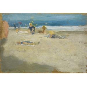 Karpiński Alfons, PLAŻA NA LIDO, 1907