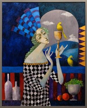Jan Bonawentura, Kobieta pijąca cydr, 2020