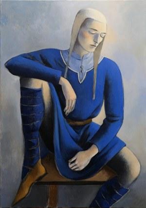 Juliusz Lewandowski, Autoportret w średniowiecznym stroju, 2020