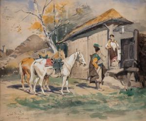 Józef Brandt, ZALOTY, poł. LAT 70. XIX W.