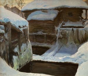 Ferdynand Ruszczyc, Młyn zimą, 1902