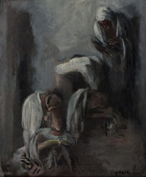 Leopold Gottlieb, Modlący się żydzi II, 1933