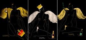 Joanna Sarapata, Zmęczone anioły (tryptyk), 2020