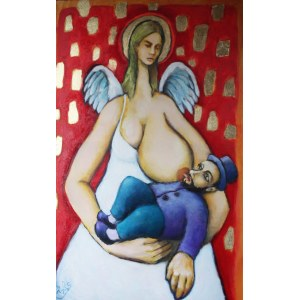 Miro Biały, Metatron, anioł karmiący dziecko, 2016