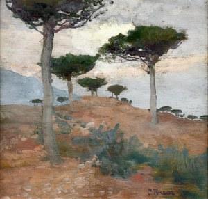 Iwan TRUSZ (1869-1940), Pejzaż z piniami