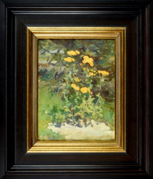 Iwan TRUSZ (1869-1940), Kwiaty w ogrodzie