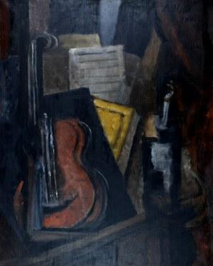 Alicja HALICKA (1889-1974), Martwa natura kubistyczna z wiolonczelą