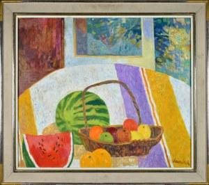 Jan SZANCENBACH (1928-1998), Martwa natura z arbuzem
