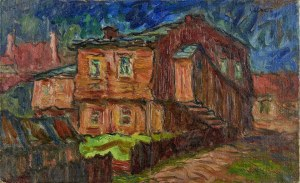 Otto AXER (1906-1983), Widok z Przemyśla, ok. 1950